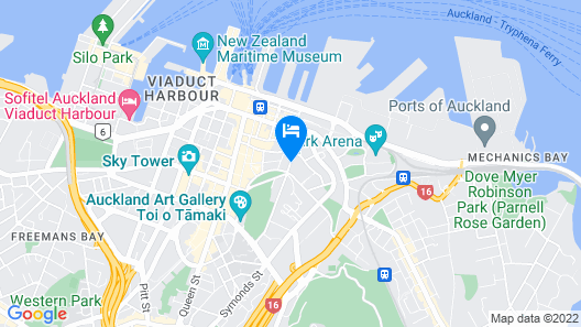 Pullman Auckland Hotel & Apartments Map