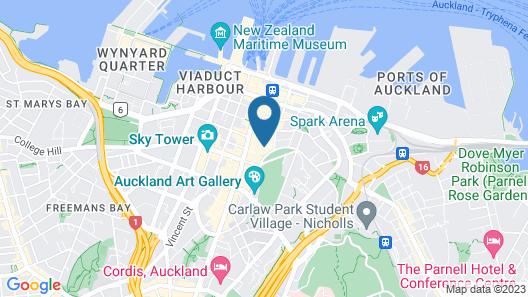 Avani Auckland Metropolis Residences Map