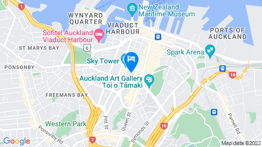 Crowne Plaza Auckland Map