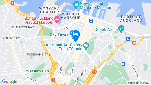 Crowne Plaza Auckland, an IHG Hotel Map