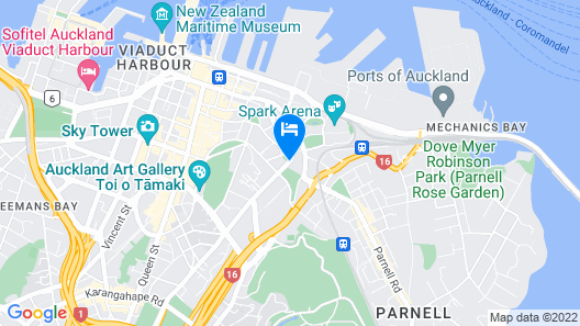 Copthorne Hotel Auckland City Map