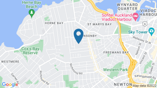 The Great Ponsonby ArtHotel Map
