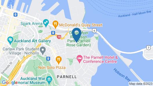 Auckland Rose Park Hotel Map