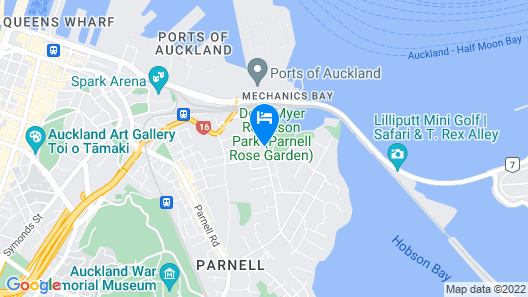 Auckland Rose Park Hotel Map