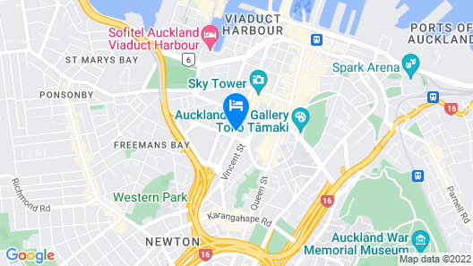 Auckland City Hotel - Hobson Street Map
