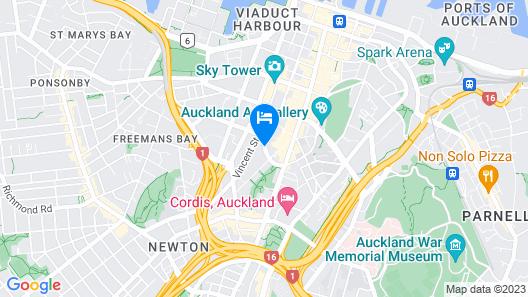 Grand Millennium Auckland Map