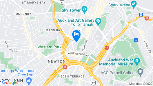 Parkside Hotel & Apartments Auckland Map