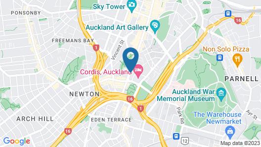 Mercure Auckland Queen Street Map