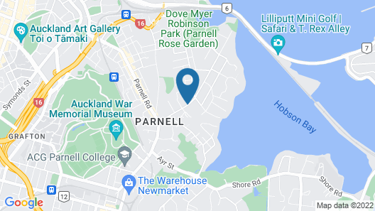 Ascot Parnell Boutique Bed and Breakfast Map