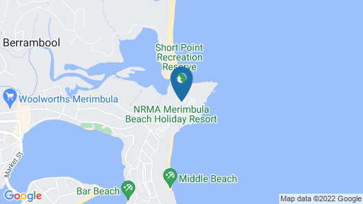 Beach Cabins Merimbula Map