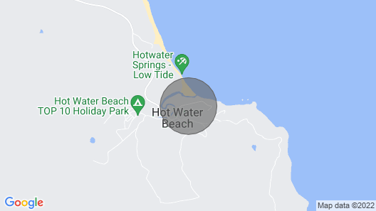 Hot Water Bach - Hot Water Beach Holiday Home Map
