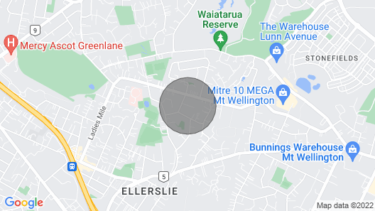 1 Bedroom Travellers Retreat in Central Auckland Map
