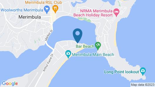 Bayview Apartments Merimbula Map