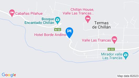 Hotel y cabañas Borde andino Map