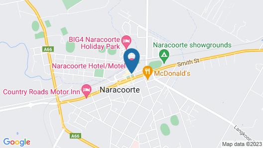 Naracoorte Hotel Motel Map