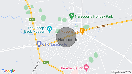 MacDonnell House Naracoorte Map