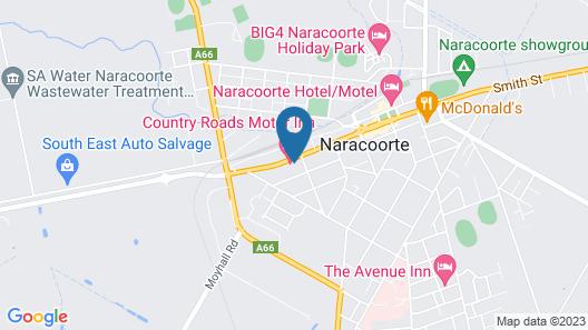 Country Roads Motor Inn Naracoorte Map