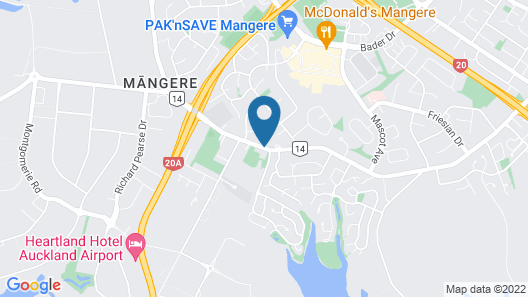 Auckland Airport Lodge Map