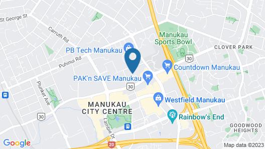 Central Manukau Hideaway Map