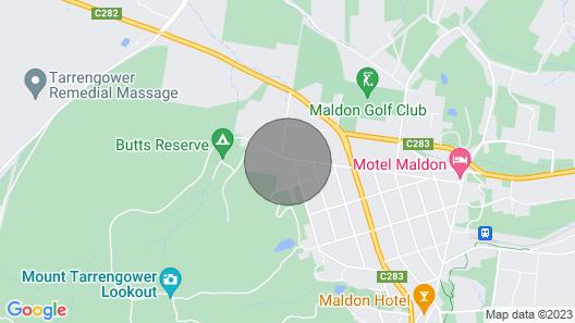 Sunset 55 - Peaceful Garden in Maldon Victoria Map