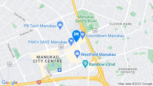Manukau Motor Lodge Map