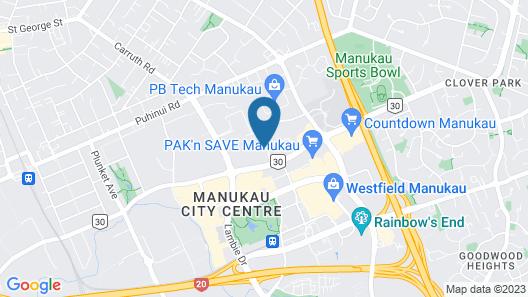 Manukau City Lodge Map