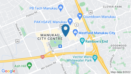 Proximity Apartments Manukau / Auckland Airport Map
