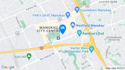MCentral Apartments Manukau Map