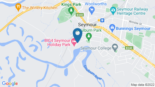 BIG4 Seymour Holiday Park Map