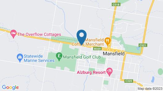 Mansfield Valley Motor Inn Map