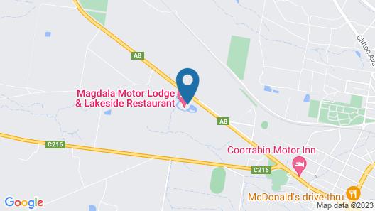 Magdala Motor Lodge & Lakeside Restaurant Map