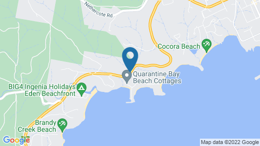 Quarantine Bay Beach Cottages Map