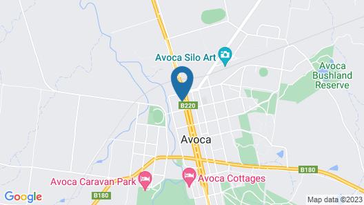 Avoca Motel Map