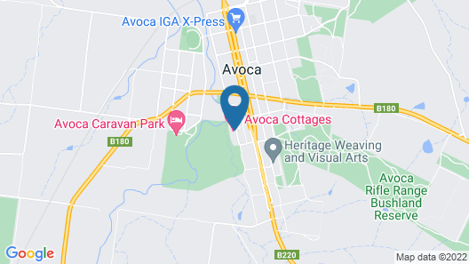 Avoca Cottages Map