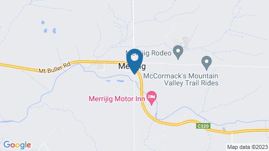 Delatite Apartments Merrijig Map