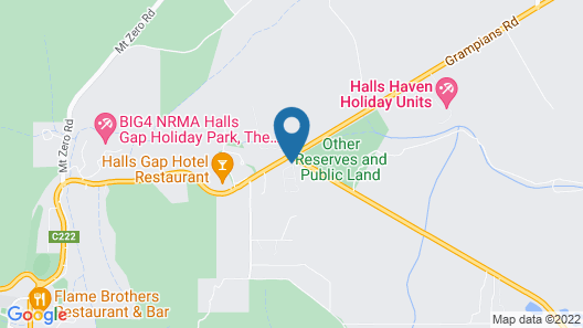 Breeze Holiday Parks - Grampians Map
