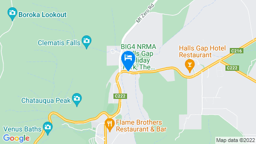 BIG4 NRMA Halls Gap Holiday Park  Map