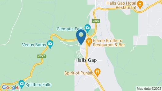 Halls Gap Caravan Park Map