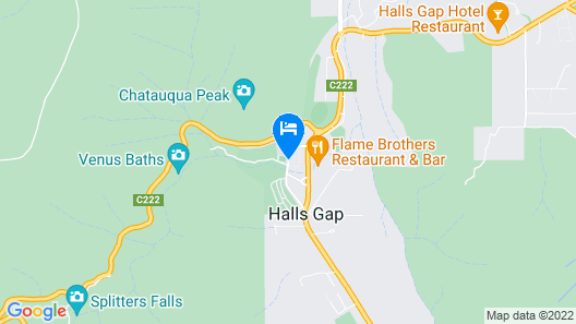 Breeze Holiday Parks - Halls Gap Map