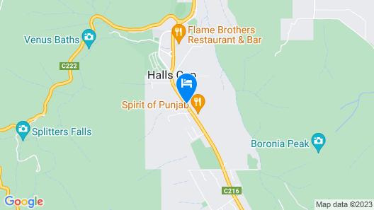 Halls Gap Motel Map