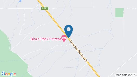 Blaze Rock Retreat Map