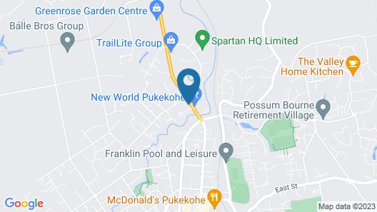 Pukekohe Motel Map