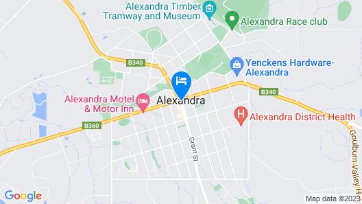 Corner Hotel Alexandra Map