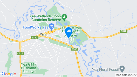 Yea Riverside Caravan Park Map