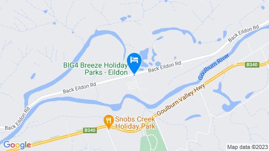 Breeze Holiday Parks - Eildon Map