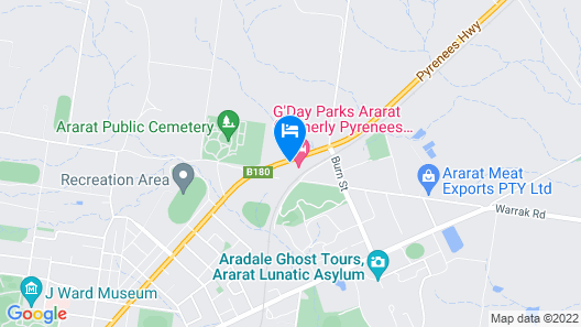 G'day Parks Ararat Map