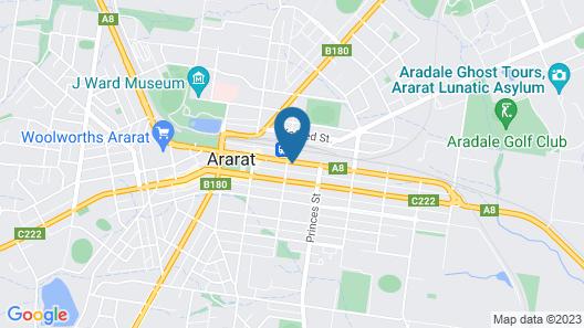 Ararat Southern Cross Motor Inn Map