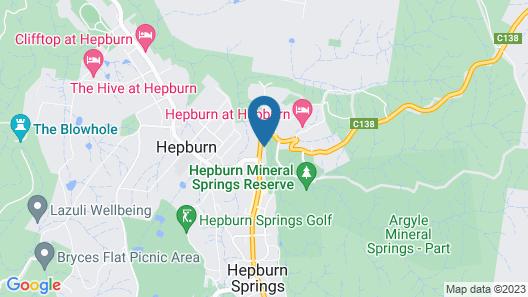 Hepburn Spa Pavilions Map