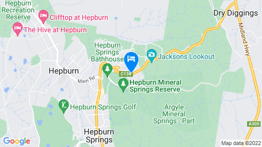 The Cottages at Hepburn Springs Map