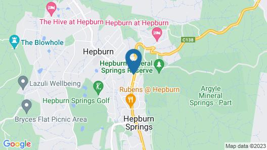 Hepburn Springs Motor Inn Map